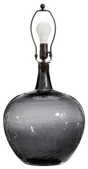 clift glass jug table lamp base smoke traditional. Black Bedroom Furniture Sets. Home Design Ideas