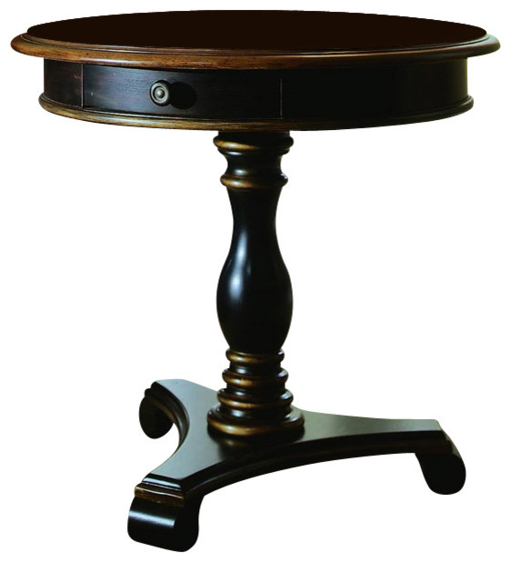 Preston Ridge Pedestal Accent Table Traditional Side