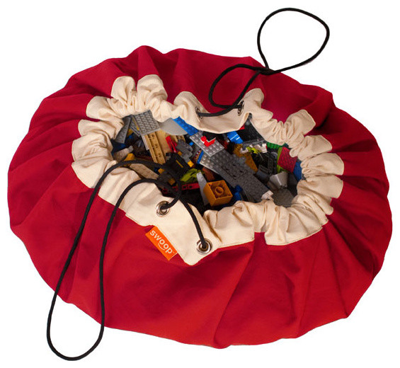 Swoop Bag, Tractor Red, Large traditional-toy-organizers