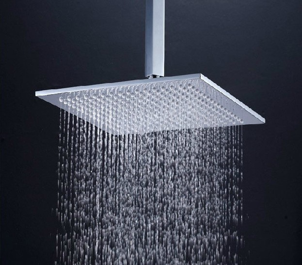 10 square brass bathroom rain shower head in chrome