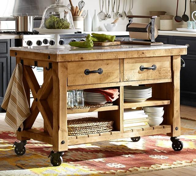 Hamilton Kitchen Island - Traditional - Kitchen Islands And Kitchen Carts - sacramento - by ...