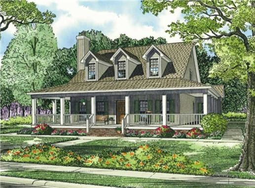 Southern style house plan # 153-1454 traditional