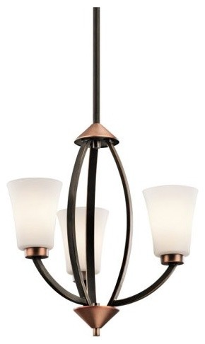 Kichler Edgecomb 42838OZ Mini Chandelier - 14.5 in. - Olde Bronze contemporary chandeliers