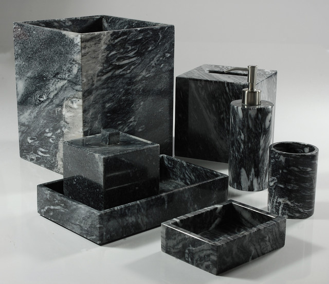 Palazzo black bathroom set bathroom accessories for Black bath accessories sets