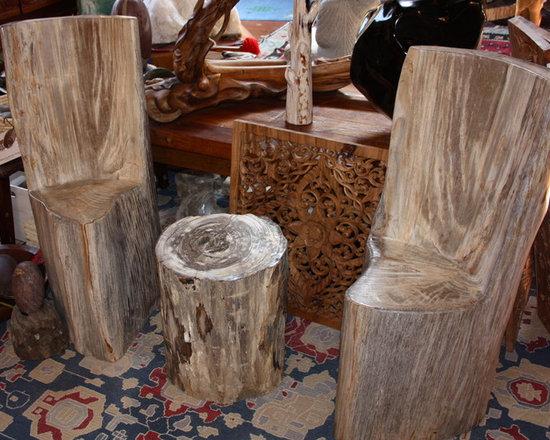 Petrified Wood Chairs -