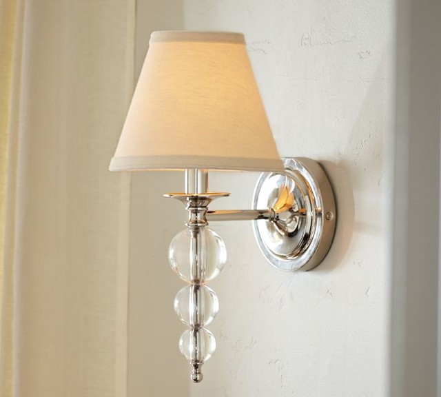 Wall Lamps Pottery Barn : Stacked Crystal Sconce - Contemporary - Wall Sconces - by Pottery Barn