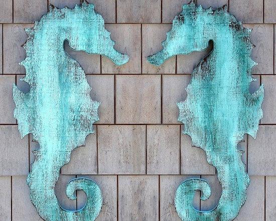 Wooden Seahorse Wall Plaque -