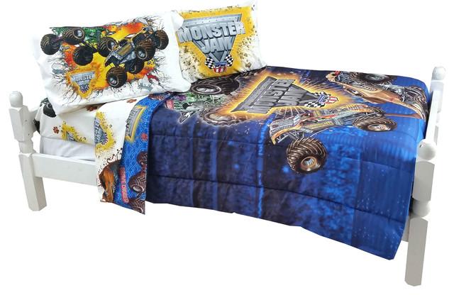 monster jam bedding set truck destruction comforter sheets