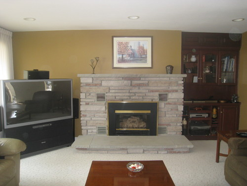1970 39 S Gas Fireplace Needs Updating Want Tv Above Fireplace