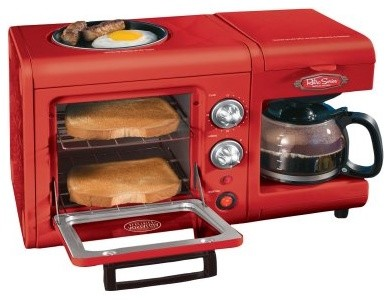 Nostalgia Electrics BSET100CR 3 in 1 Breakfast Station modern-laundry-room-appliances