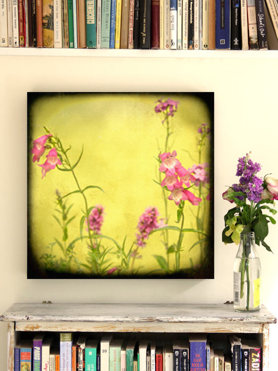 """WILD FLOWERS CANVAS 20 X20"""" - The shelve was painted by me."""