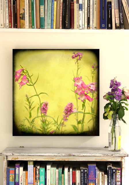 "WILD FLOWERS CANVAS 20 X20"" eclectic-artwork"