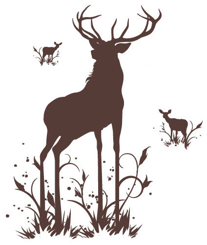 Surface Collective - Oh, Deer Wall Tattoo modern-wall-decals