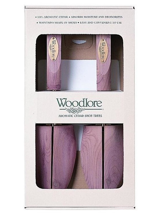Woodlore - Pair of Women's Adjustable Aromatic Cedar Sho - Choose Size: PetiteSold as a pair. Split-toe design. Brass-plated steel hardware. Handy nylon strap makes this tree easy to remove. Aromatic Cedar, with its distinct fragrance helps repel insects and keeps closets and drawers smelling naturally fresh. Prolong the life of shoes by absorbing moisture from them, as well as maintaining the shape of the shoe. Regular use can extend the life of a pair of shoes by as much as 30%. Light sanding of the Cedar rejuvenates the natural aromatic scent. No assembly required. Petite: 12 in. L x 2.5 in. W (0.88 lb.). Small: 12 in. L x 2.5 in. W (1 lb.). Medium: 12 in. L x 3.5 in. W (1.13 lbs.). Large: 12 in. L x 3.5 in. W (1.25 lbs.)This split-toe design has a spreader plate that adjusts to accommodate a complete range of shoe widths.