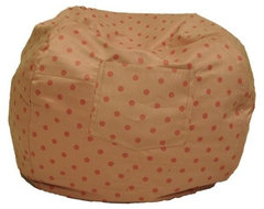 Small Beanbag in Pink Polka Dot modern-footstools-and-ottomans