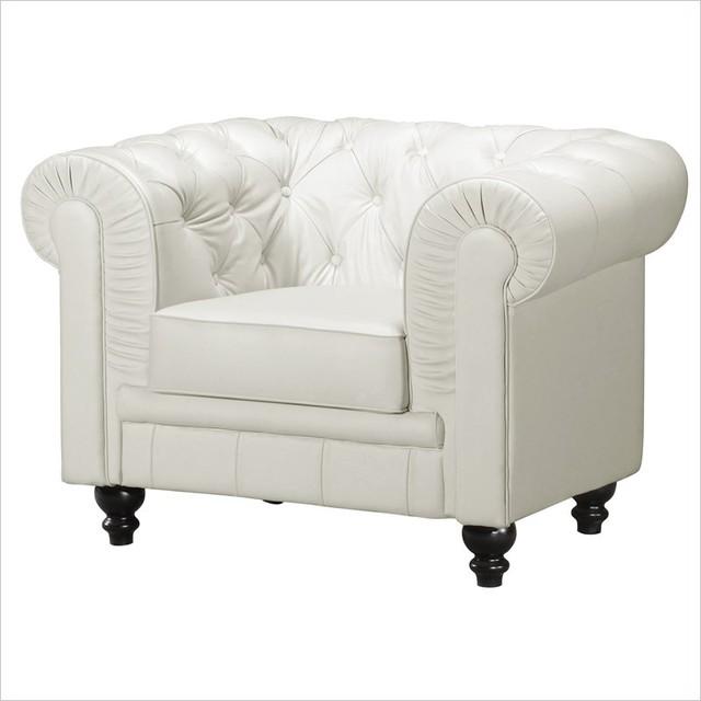 ZUO Aristocrat Armchair in white modern-accent-chairs