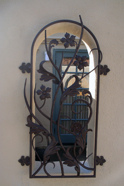 Iron Work eclectic exterior