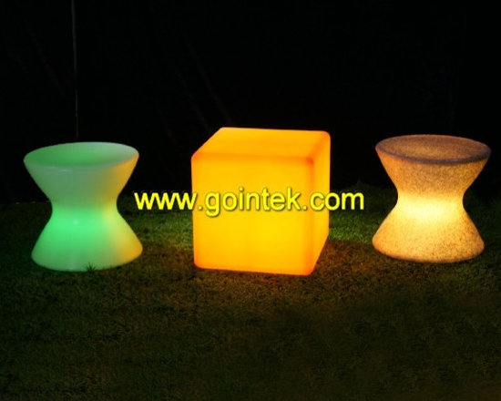 modern led stool bar with rechargeable battery -