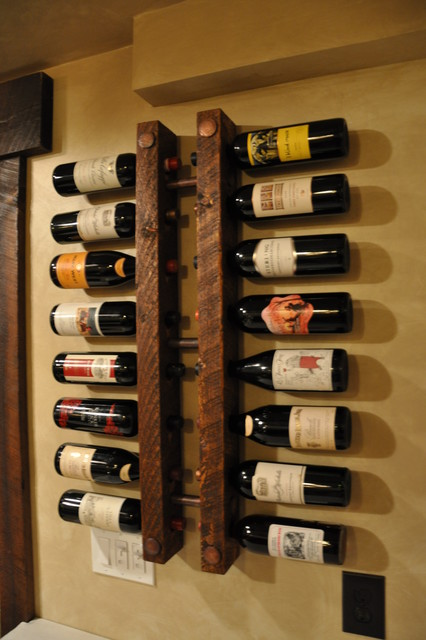 Wood And Copper Wine Rack Racks Minneapolis By