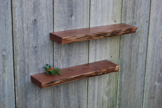 Natural Edge Walnut Shelves - Modern - Display And Wall Shelves - other metro - by Vintage Shelf ...