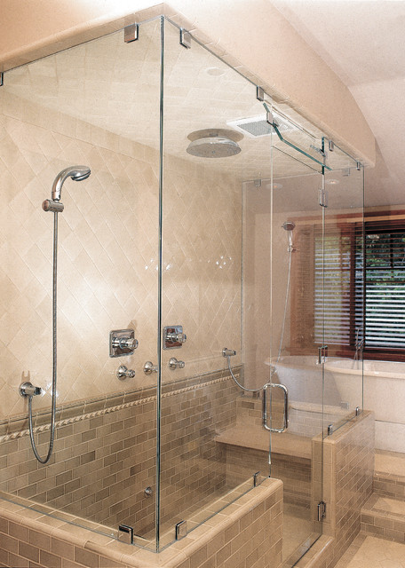 Frameless Shower Doors - traditional - showers - boise