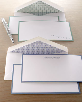 50 Monarch Cards/Personalized Envelopes traditional-desk-accessories