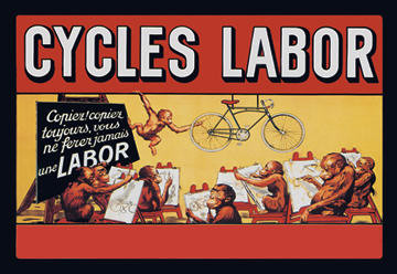 Cycles Labor - Art Class 12x18 Giclee on canvas contemporary-prints-and-posters