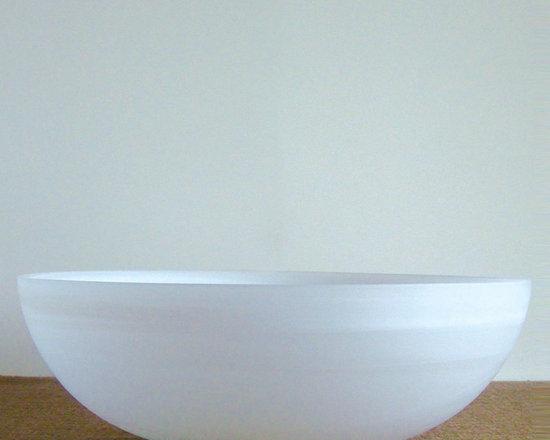 Alabaster Glass Salad Bowl -