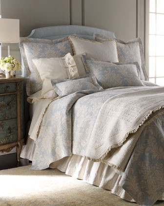 Lili Alessandra Sanibel Bed Linens Standard Battersea Quilted Sham traditional-sheets