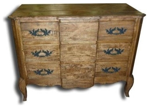 New Chest of Drawers Pecan French Brass traditional-dressers-chests-and-bedroom-armoires