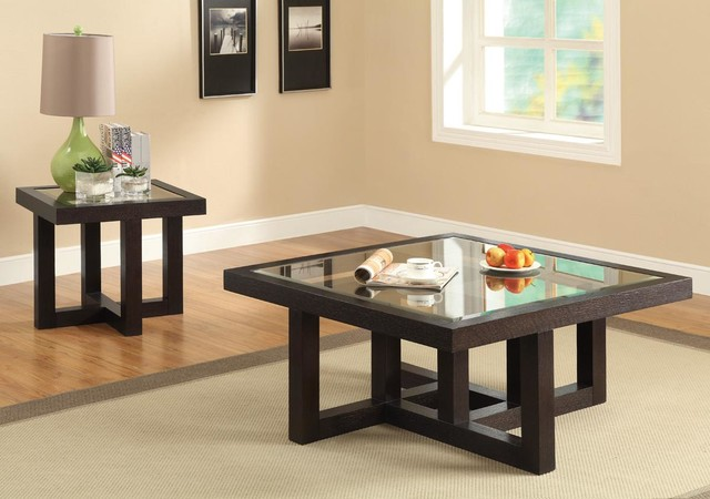 Square Glass Coffee Table Contemporary Coffee Tables Orange County By