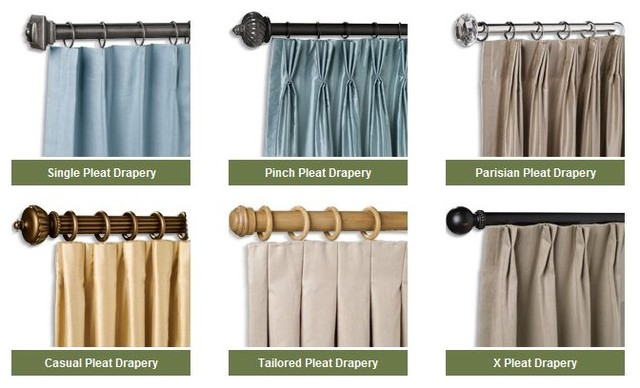 Pleat Styles Window Treatments