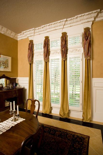 O'Hair Wood Shutters traditional-window-treatments