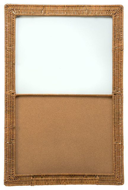 Magnetic Dry Erase & Cork Board with Wicker Frame 24x36 - Contemporary ...