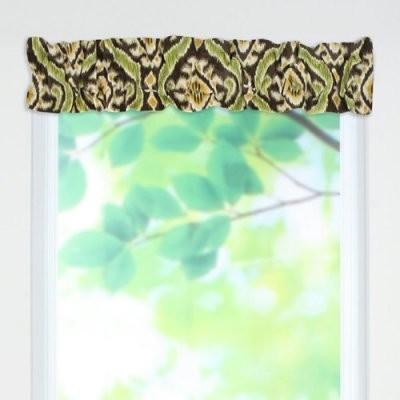 Chooty & Co. Uzbek Lime Sleeve Topper Valance modern-changing-tables