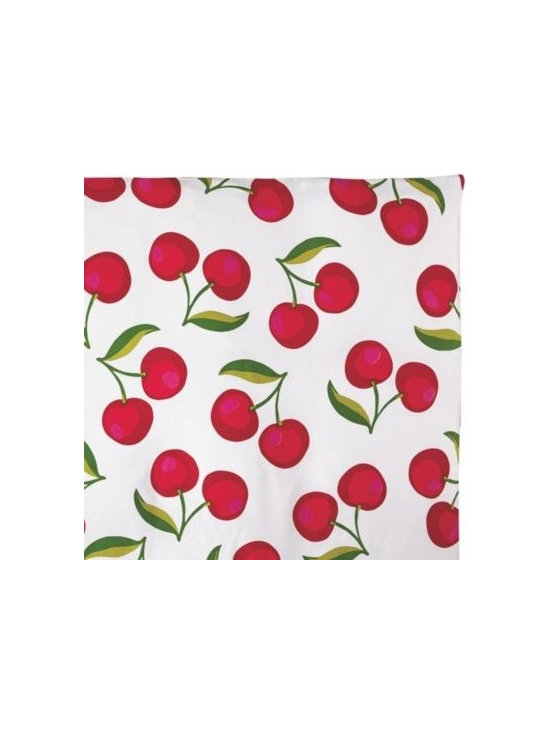 Serena & Lily - Cherry Duvet - A retro vibe, but very now our not so secret love affair with playful prints continues. Scaled way up, these cheeky cherries (in juicy shades of red, with a dash of pink and two toned green) have all the artful details of a watercolor.