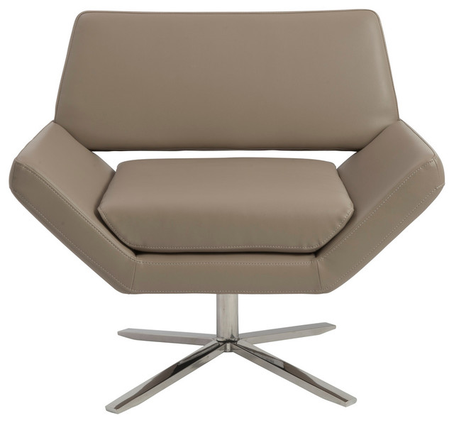 Carlotta Lounge Chair-Taupe contemporary-chairs