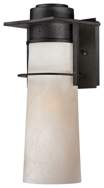 """Coastal Drew 16"""" High Iron Age Finish Quoizel Outdoor Wall Sconce modern-outdoor-lighting"""