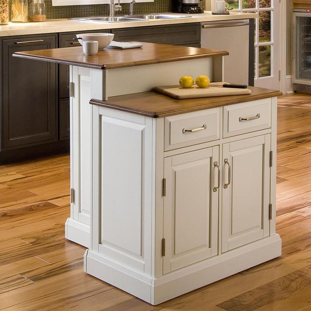 Woodbridge 2-Tier Kitchen Island - Contemporary - Kitchen ...