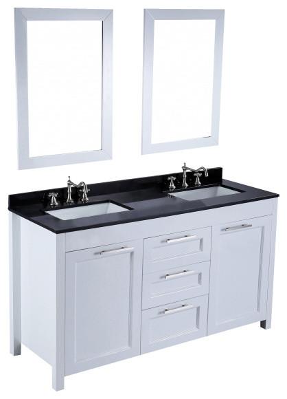 Bosconi SB 267 60 Contemporary Double Vanity Transitional Bathroom