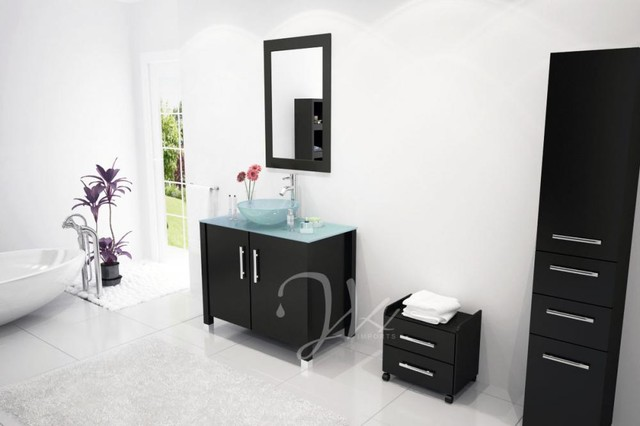 Bathroom Vanity With Bowl On Top : ... Bathroom Vanity with Glass Top and Bowl modern-bathroom-vanities-and