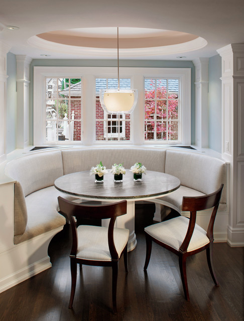 Curved Island with desk connected layout Pinterest Curved Banquette Seat in Kitchen - traditional - kitchen seating Seat in MASTER CLASS: BANQUETTE - Kitchen Island With Booth Seating'S, BOOTHS, BUILT-IN SOFA'S - traditional - MASTER CLASS: BANQUETTE'S, BOOTHS, BUILT-IN SOFA'S