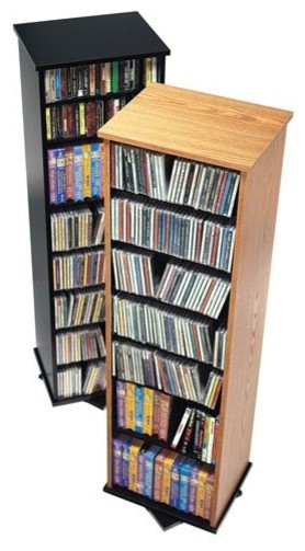 Prepac Two Sided Spinner-528cds Storage Unit traditional-media-storage