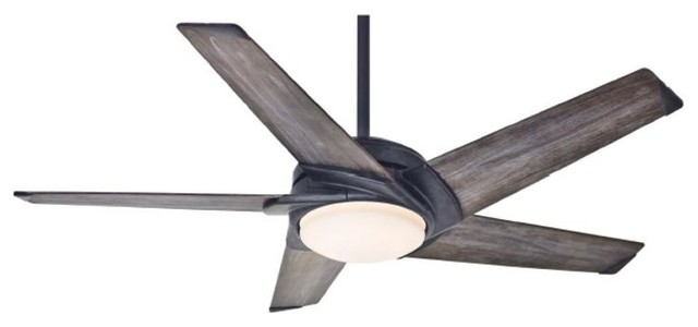 Casablanca LED Stealth Ceiling Fan in Aged Steel contemporary-ceiling-fans