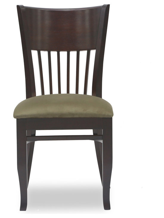 Bryght - Vera Light Brown Fabric Upholstered Light Cappuccino Dining Chair - The Vera dining chair showcases a timeless and classic vintage design. Simple yet graceful, the Vera dining chair is well suited for all occasions, with its smooth bentwood back with wooden vertical slats and a cozy padded seat in microfiber.