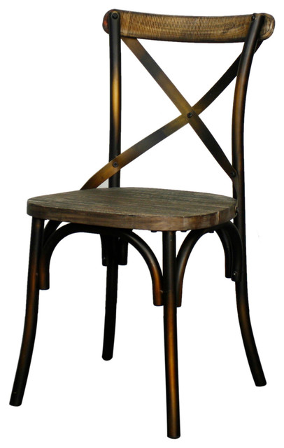 Natalie Metal Chair Distressed Copper Modern Dining Chairs By New Pacific Direct Inc
