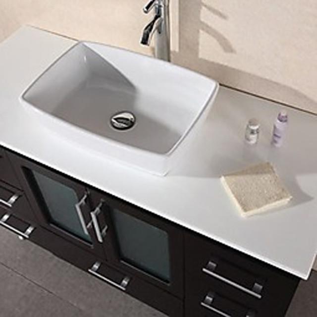 "48"" Stanton Single Vessel Sink Vanity - Espresso (B48-VS) modern"