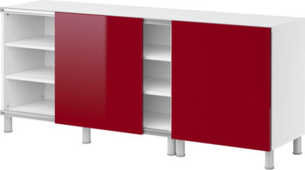 BESTÅ Storage combination w sliding doors modern bookcases cabinets ...