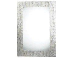 Tolka Quay Mother of Pearl Mirror modern-mirrors