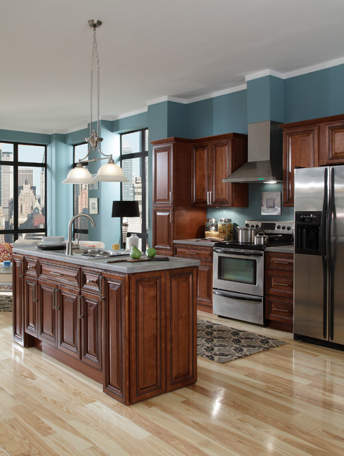 B.Jorgsen & Co. Buckingham Sienna Rope Kitchen Cabinets - other metro - by Cabinets To Go